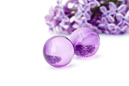 oil bath pearls Stock Photo