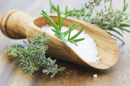 sea salt with herbs  photo