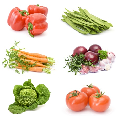 collection of fresh vegetables Standard-Bild
