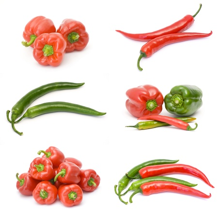 collection of pepper fruits photo