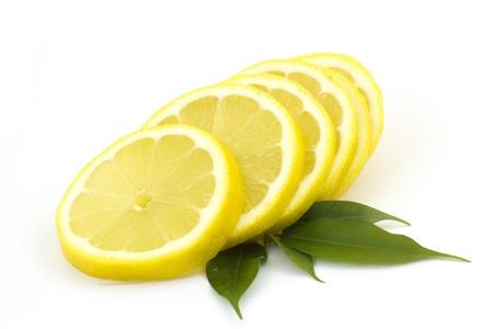fresh taste: slices of lemon Stock Photo