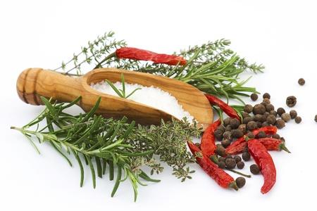 sea salt with herbs Standard-Bild