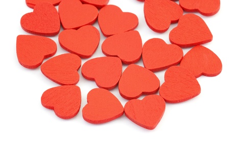 small hearts on white background Stock Photo - 13261324