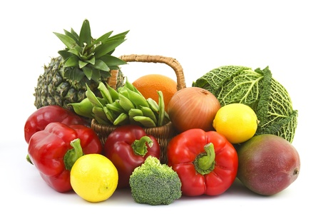 fresh vegetables and fruits photo