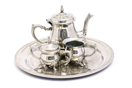 silver tea set Stock Photo - 13325114