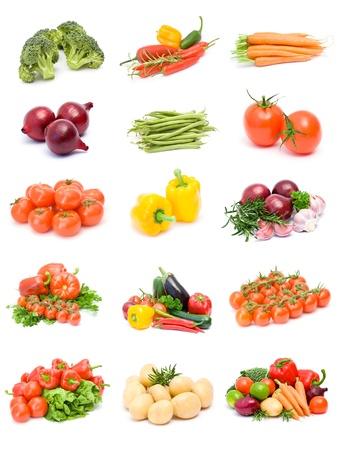 verzameling groenten Stockfoto