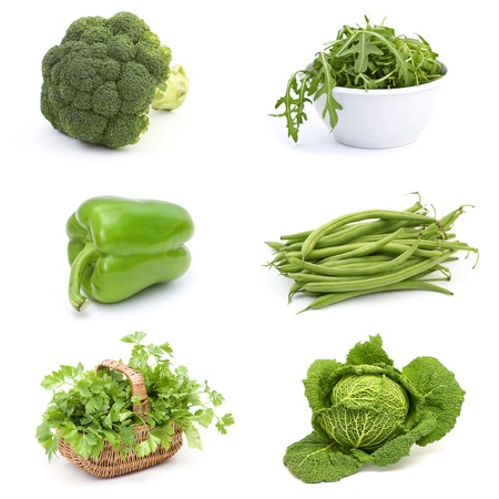 collection of fresh vegetables photo