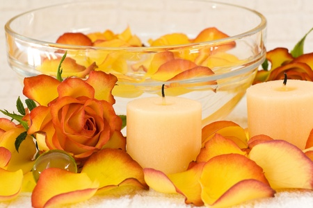 bowl of rose petal - body care photo