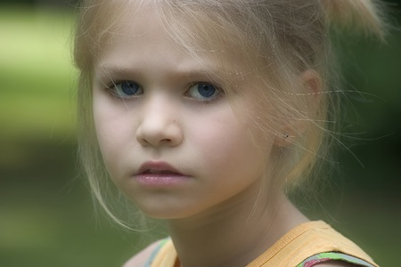 portrait of the girl in the open air photo