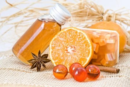 orange spa products Standard-Bild