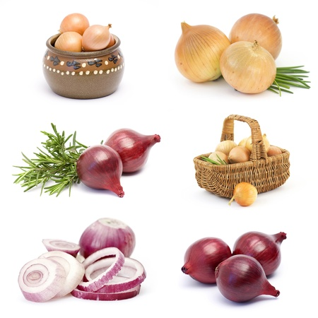 red onion: collection of onion vegetable  Stock Photo