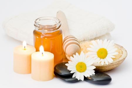 bath salt with honey and chamomile