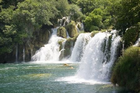 Krka waterfall in Dalmatia (Croatia) photo