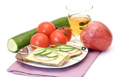 dietetic: dietetic sandwich - tasty breakfast Stock Photo