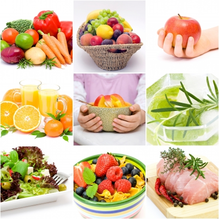 dieting collage photo