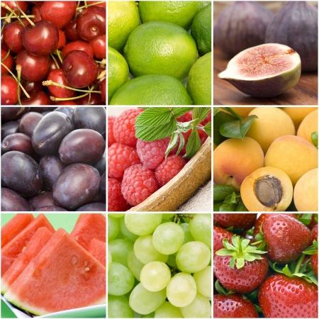 yellow  agriculture: colecci�n de frutas frescas Foto de archivo