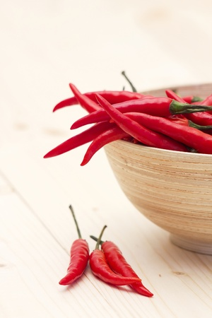red chili peppers in a bowl