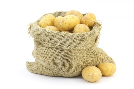 raw potatoes in sack Stock Photo - 13781837