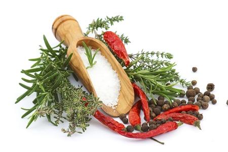 sea salt with herbs Stock Photo