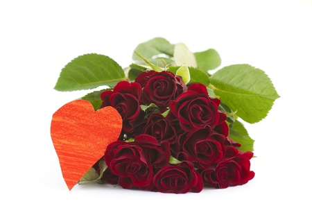 red roses and heart Stock Photo - 14269705