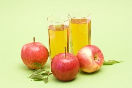 apple juice and fresh fruits photo