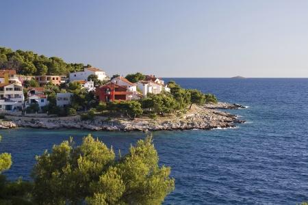 dalmatia: adriatic coast in Dalmatia, Croatia Stock Photo