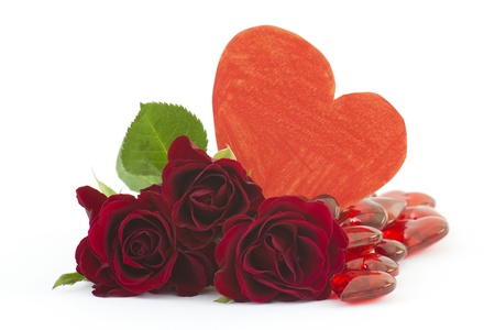 red roses and hearts Stock Photo - 14264996