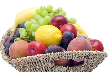 basket full of fresh fruits photo