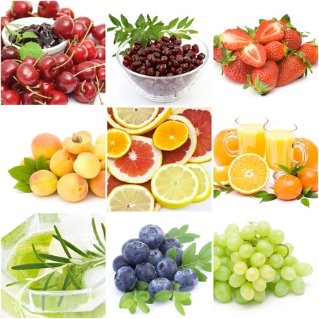 collection of images on the theme of  fruits   Standard-Bild