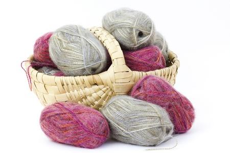basket full of wool photo