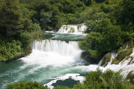 Krka waterfall in Dalmatia (Croatia) photo