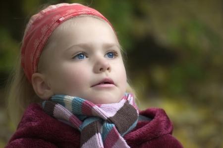 harmonizing: portrait of small girl