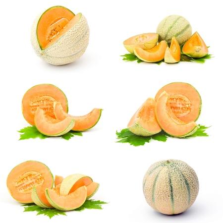 マスクメロン: 新鮮なメロン果実のコレクション