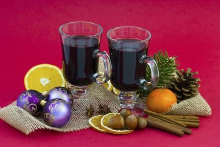 vin chaud: vin chaud et d�coration de No�l