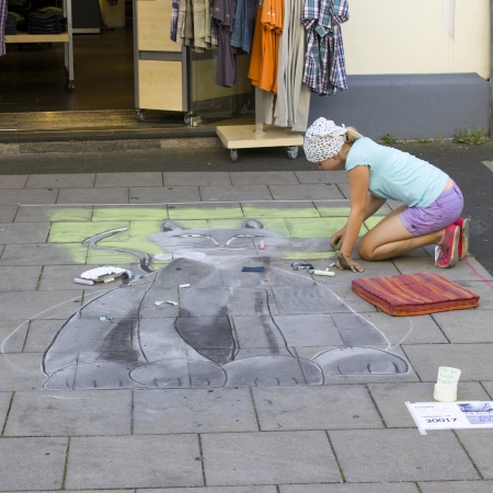 street painting in Geldern, Germany photo
