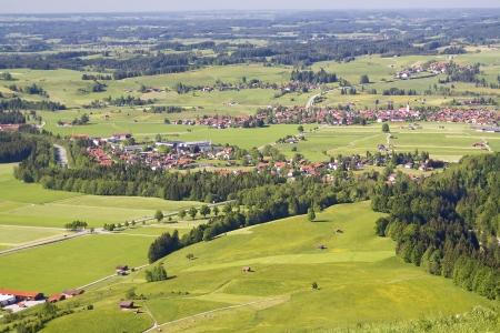 schwangau: Beautiful countryside landscape Stock Photo