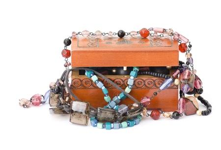 Wooden casket jewelery Stock Photo - 15538812