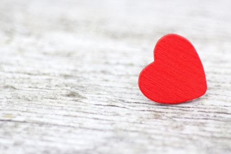 red heart on wooden background Stock Photo - 15694677