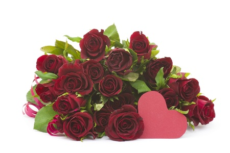red roses and heart Stock Photo - 15775762