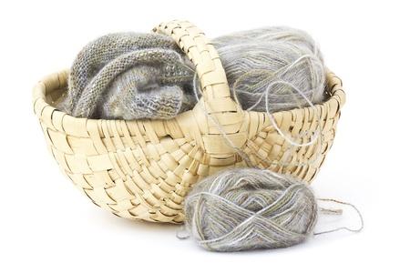 Woollen thread and knitting needle. Stock Photo - 15775769