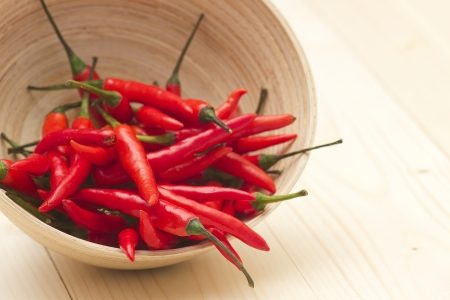 chilli: red chili peppers in a bowl
