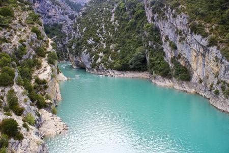 St Croix Lake, Les Gorges du Verdon, Provence, France Standard-Bild