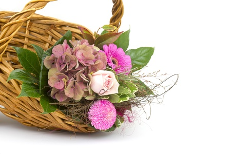 flowers in a basket Stock Photo - 16183335