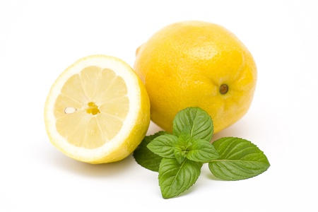 fresh lemon and mint Stock Photo - 16183185