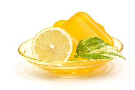 glycerin soap: bar of glycerin soap and lemon