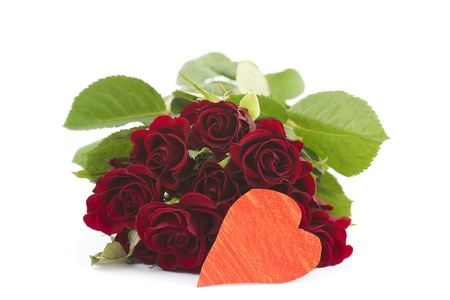 red roses and heart Stock Photo - 16310771