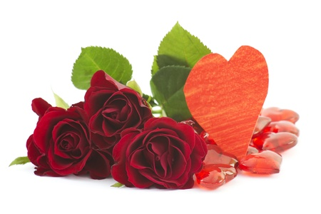 red roses and hearts Stock Photo - 16310784