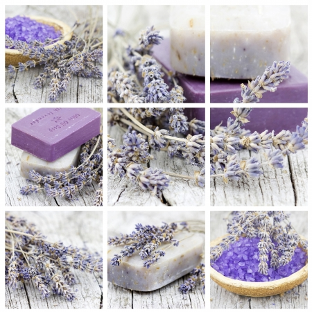 handmade soap: spa collage Stock Photo
