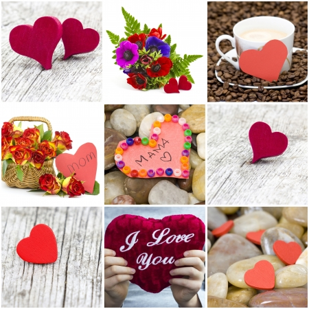 Mother's Day - flowers and hearts for mom Stock Photo - 17406907