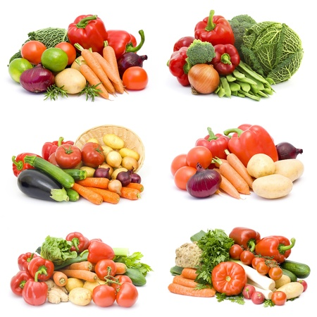 fresh vegetables - collage photo
